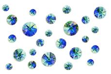 Jolifin LAVENI Strass-Display - blue irisierend