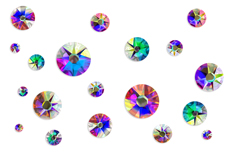 Jolifin LAVENI Strass-Display - FlipFlop rainbow