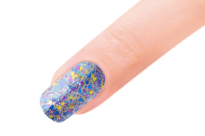 Jolifin LAVENI Farbgel - purple-rain Glitter 5ml