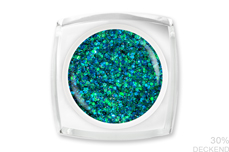 Jolifin LAVENI Farbgel - blue-green Glitter 5ml