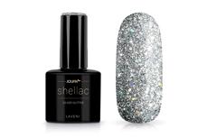 Jolifin LAVENI Shellac - silver Glitter 12ml