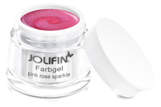 Jolifin Farbgel pink rose sparkle 5ml