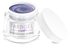 Jolifin Farbgel lavender blue sparkle 5ml