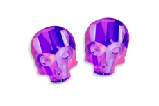 Jolifin Diamond Skull - FlipFlop purple-blue
