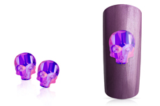 Jolifin Diamond Skull - FlipFlop purple-blue