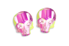 Jolifin Diamond Skull - FlipFlop pink-green