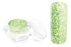 Jolifin Glossy Glitter - apple green