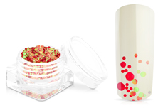 Jolifin Bubble Glitter - red