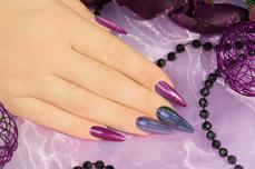Jolifin Unicorn Chrome-Flakes - purple & türkis
