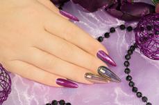 Jolifin Unicorn Chrome-Flakes - gold & purple