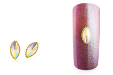 Jolifin LAVENI Strass-Diamond - Cat-Eye gold