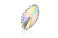 Jolifin LAVENI Strass-Diamond - Cat-Eye silver