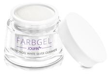Jolifin Farbgel French-Gel white silver Glimmer 5ml