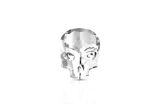 Jolifin Diamond Skull - clear small