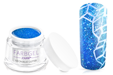 Jolifin Farbgel neon-blue Glitter 5ml