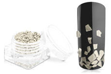 Jolifin Luxury Nailart Splitter - Silber grob
