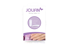 Jolifin 100er Tipbox schmal - clear