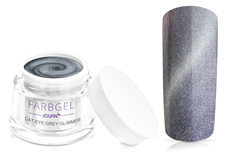 Jolifin Cat-Eye Farbgel grey Glimmer 5ml