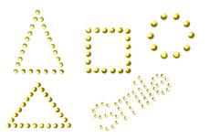 Jolifin LAVENI Pearl Sticker - Nr. 6
