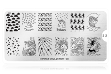 MoYou-London Schablone Hipster Collection 22