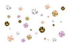 Jolifin Strass-Display - rosy & gold Mix
