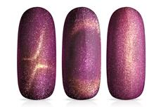 Jolifin LAVENI Shellac - Cat-Eye FlipFlop pink & gold 12ml