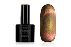 Jolifin LAVENI Shellac - Cat-Eye FlipFlop gold & copper 12ml