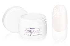 Jolifin Studioline Refill - Aufbau-Gel milky-white 250ml