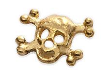 Jolifin Inlay kleiner Totenkopf gold