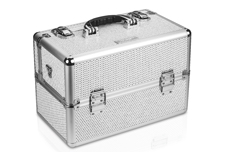Jolifin Mobiler Kosmetik Koffer - white Glitter - B-Ware 2