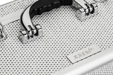 Jolifin Mobiler Kosmetik Koffer - white Glitter - B-Ware