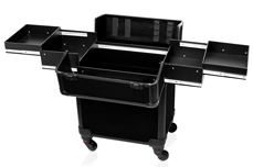 Jolifin Trolley Koffer medium - schwarz matt - B-Ware