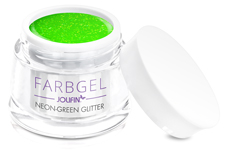 Jolifin Farbgel neon-green Glitter 5ml