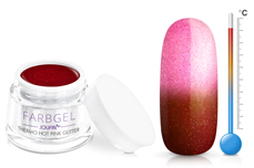 Jolifin Thermo Farbgel hot pink glitter 5ml