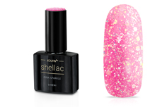 Jolifin LAVENI Shellac - pink sparkle 12ml