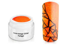 Farbgel neon-orange Glitter 5ml