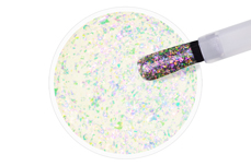 Jolifin LAVENI Shellac - Aurora Flakes pink & green 12ml