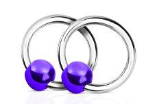 Jolifin Nagel-Piercing 925-Silber - Kugel Lila