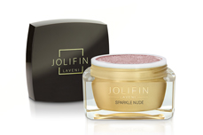 Jolifin LAVENI Farbgel - sparkle nude 5ml