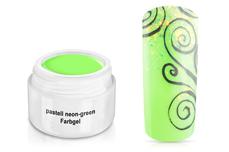 Farbgel pastell neon-green 5ml