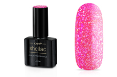 Jolifin LAVENI Shellac - girly pink sparkle 12ml