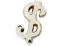 Jolifin Inlay Dollarzeichen silber