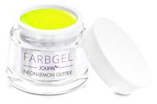 Jolifin Farbgel neon-lemon Glitter 5ml