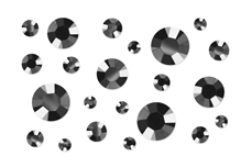 Jolifin LAVENI XL Strass-Display - grey chrome