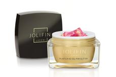Jolifin LAVENI Plastilin 4D Gel - pink Glitter 5ml