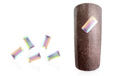 Jolifin LAVENI Strass-Diamond - small rectangle irisierend