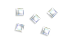 Jolifin LAVENI Strass-Diamond - quadrat moon irisierend