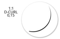 Jolifin Lashes - MixBox - 1:1 D-Curl 0,15
