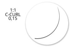 Jolifin Lashes - MixBox Flat - 1:1 C-Curl 0,15