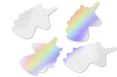 Jolifin Unicorn Glittereinleger - hologram silver